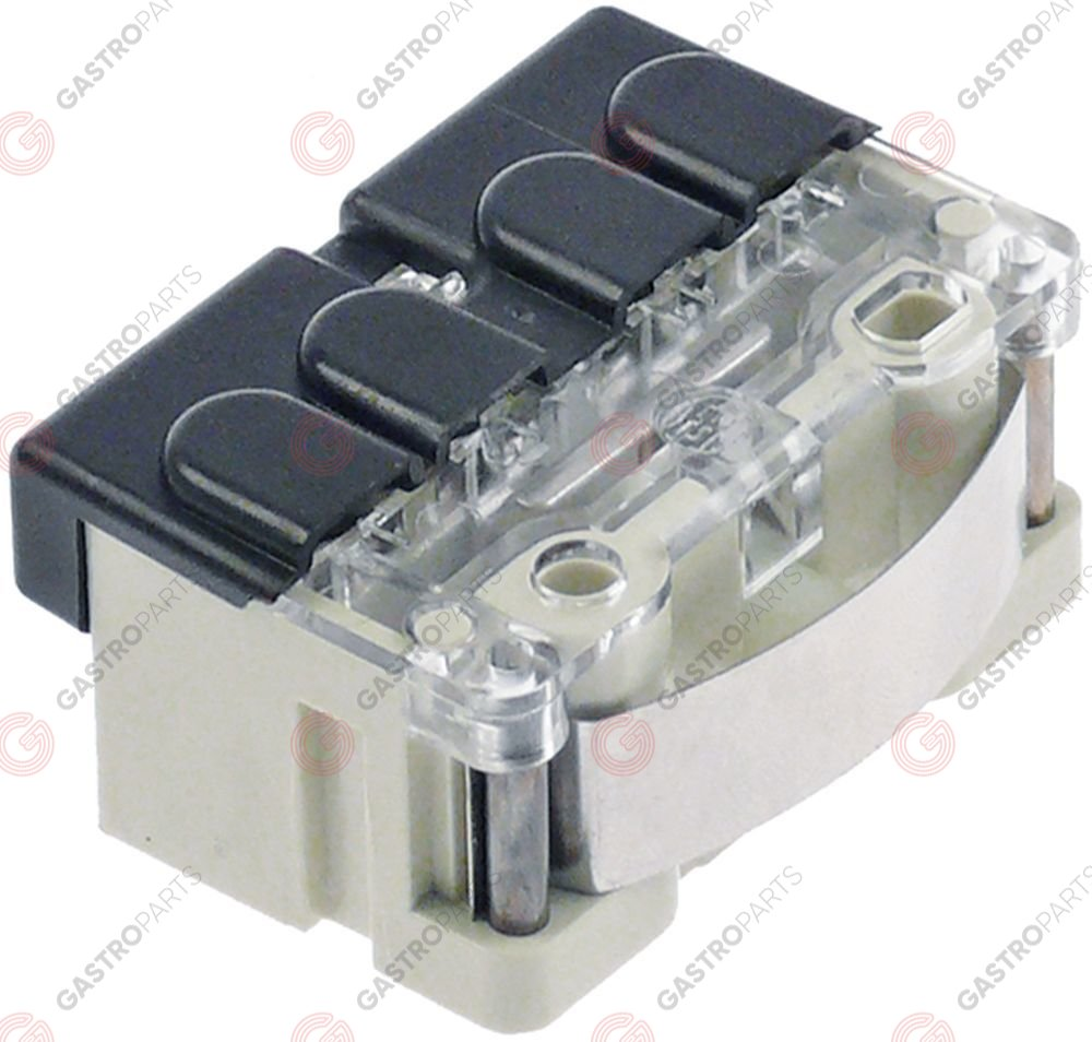 348.022, safety switch plastic 1NO/1NC 600V 10A L 44mm W 23mm H 35mm protection IP44 actuating force: 53g
