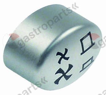 348.032, push button size 17x13mm silver  black