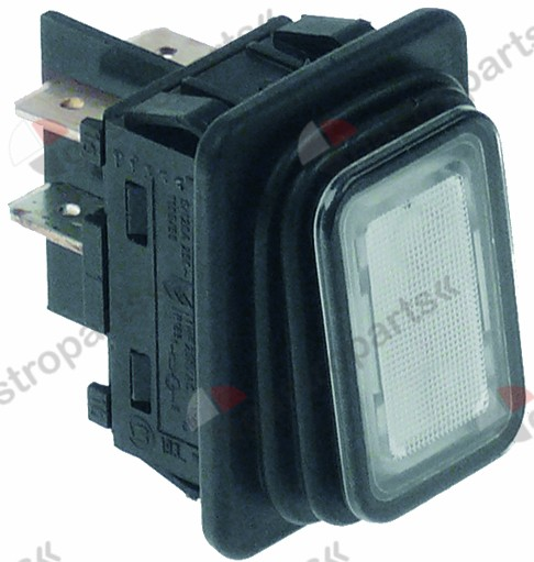 348.034, momentary rocker switch 30x22mm white 2NO 250V 20