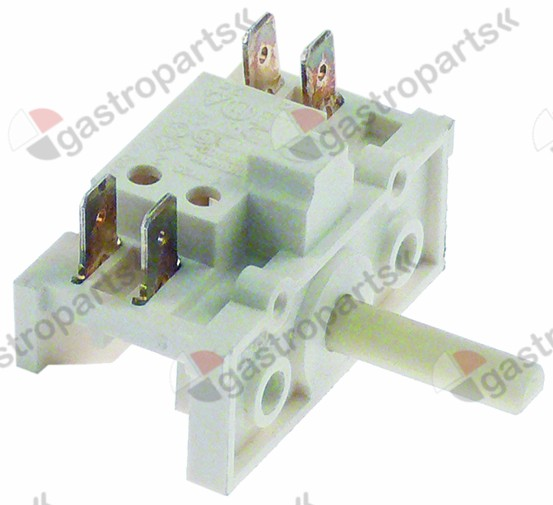 348.036, rotary switch 2 sets of contacts 2 0-1 type CH 400V 16A shaft ø 6x4.6mm shaft L 22mm