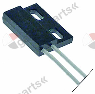348.050, magnetic switch L 29mm W 19mm 1NO 250V 0,5A P max. 10W connection plug cable length 290mm