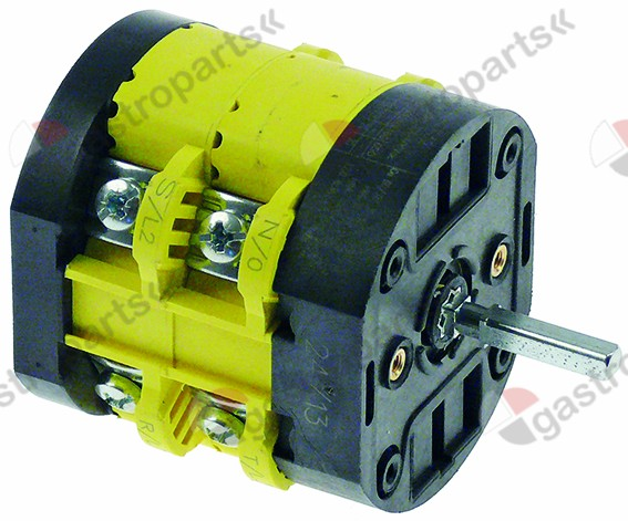 348.053, rotary switch 2 0-1 sets of contacts 4 type CX32 600V 32A shaft ø 5x5mm shaft L 26mm shaft square