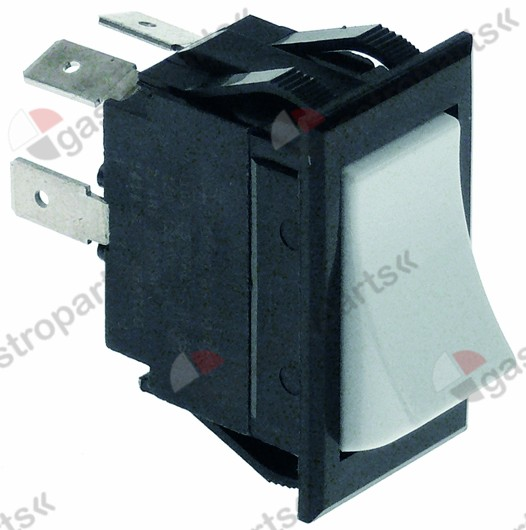 348.054, rocker switch 37x21mm white/black 2NO 125/250V