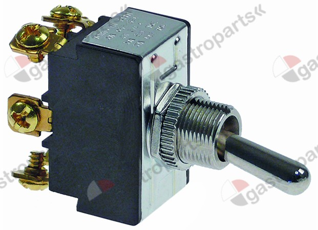 348.055, toggle switch thread M12x0.75 2CO 250V 15A ON-ON screw