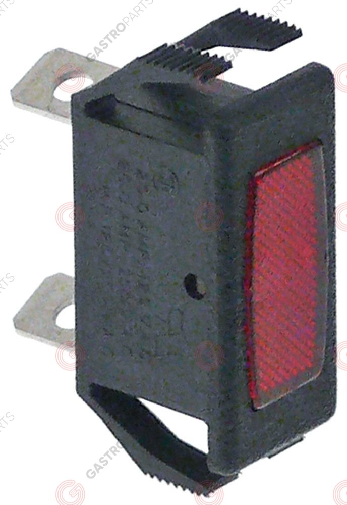 348.056, indicator light mounting measurements 27x12mm red 28V connection male faston 6.3mm