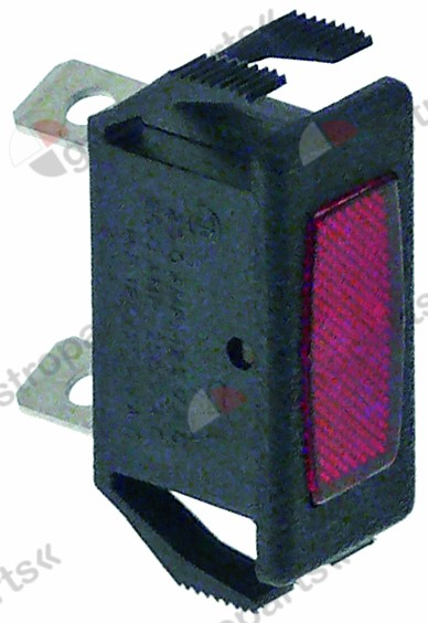 348.056, indicator light 27x12mm red 28V