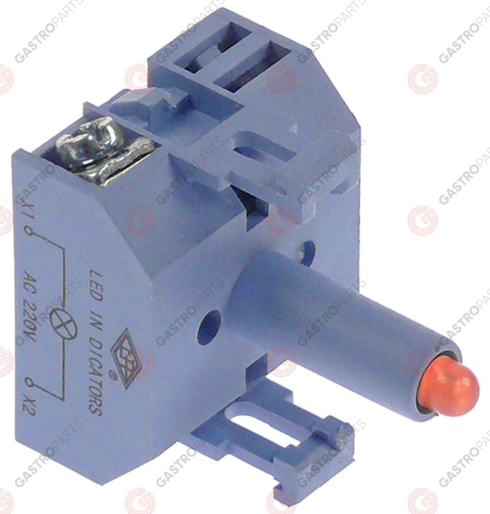 348.073, indicator lamp 24VAC/DC red LED connection screw 24V voltage AC/DC