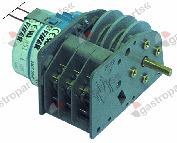 350.045, timer FIBER P25 engines 1 chambers 3 operation time 1h 230V shaft ø 6x4.6mm