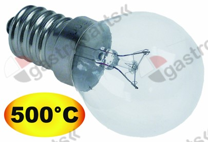 357.101, light bulb t.max. 500 °C socket E14 40 W 240 V