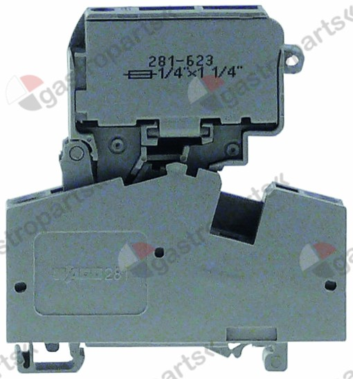 358.026, fuse holder suitable fuse 6,3x32