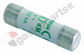 358.034, fine fuse size ø10x38mm 2A slow-acting rated 500V type aM Qty 1 pcs