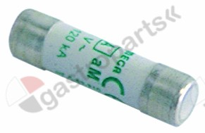 358.037, fine fuse size ø10x38mm 8A slow-acting rated 500V type aM Qty 1 pcs