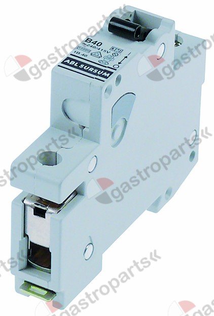 358.108, line circuit breaker 1-pole 40A tripping type B rated 240/415V nominal 40A