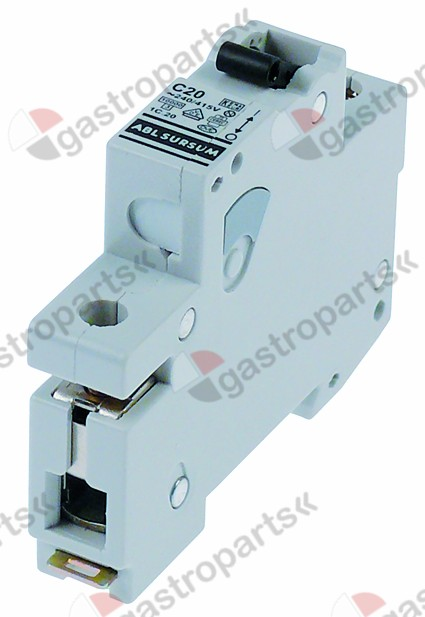 358.120, line circuit breaker 1-pole 20A tripping type C rated 240/415V