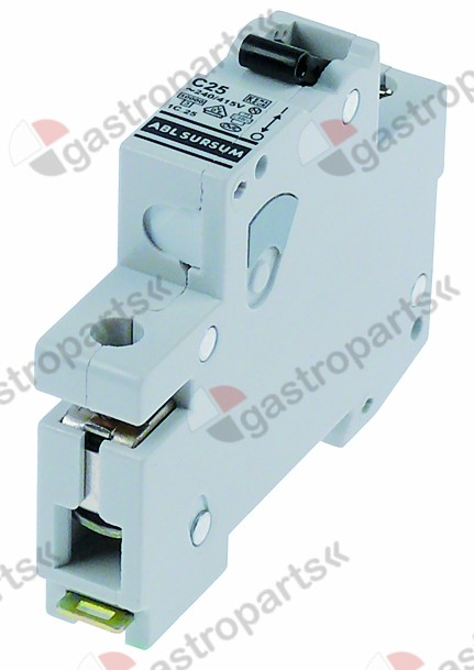 358.121, line circuit breaker 1-pole 25A tripping type C rated 240/415V nominal 25A