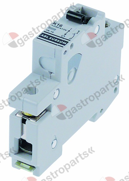 358.214, line circuit breaker 1-pole 10A tripping type K rated 240/415V