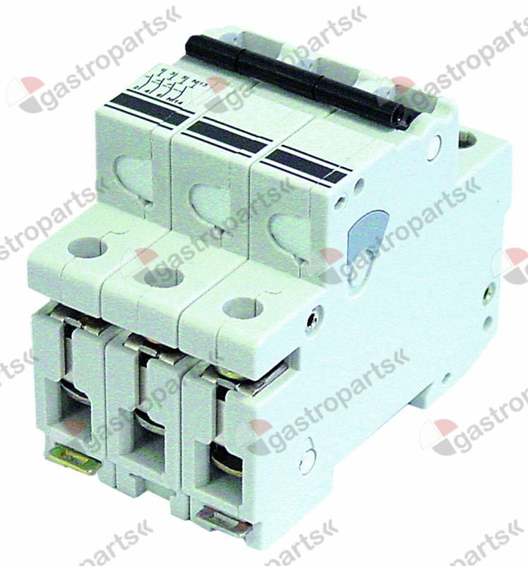 358.231, line circuit breaker 3-pole 20A tripping type K rated 400V