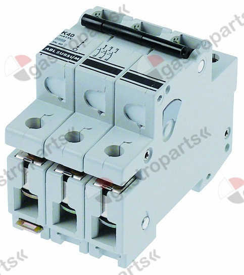 358.234, line circuit breaker 3-pole 40A tripping type K rated 400V