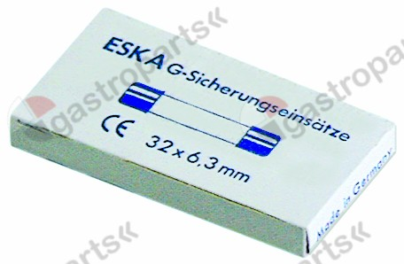 358.751, fine fuse size ø6.3x32mm 6,3A fast-acting rated 500V Qty 10 pcs