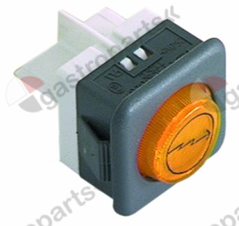 359.010, indicator light mounting measurements 27.8x25mm yellow 230V connection male faston 6.3mm