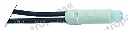 359.098, No longer available / indicator lamp 230V green cable length 250mm