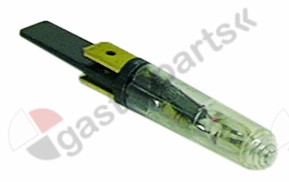 359.132, indicator lamp green illuminant 250V connection male faston 6.3mm protection IP54