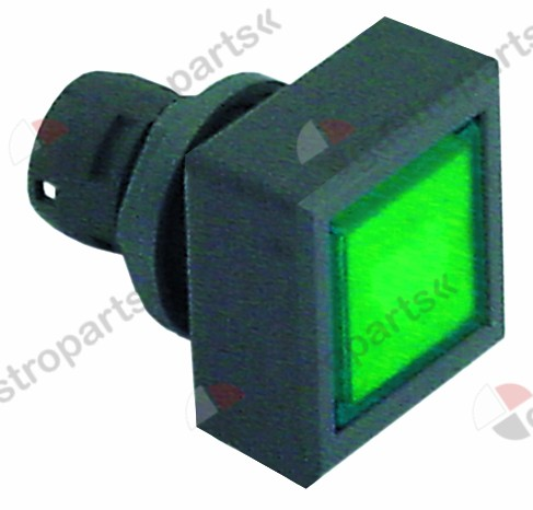 359.182, momentary switch unit type momentary mounting ø 16,2mm anthracite/green square