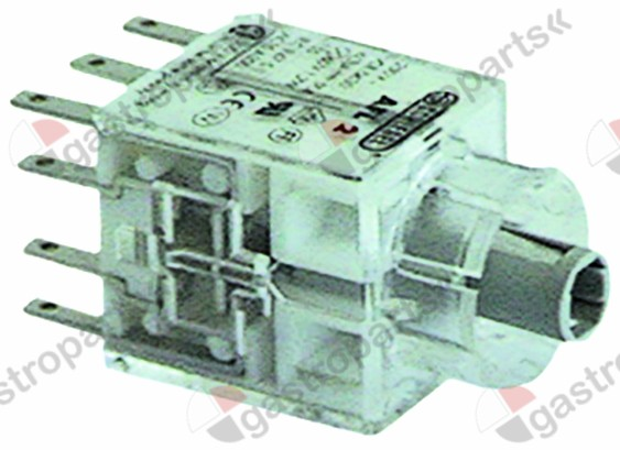 359.187, contact block latching 2NO/2NC connection male faston 2.8mm illuminable