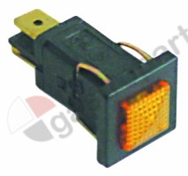 359.218, indicator light mounting measurements 14x11mm 230V yellow connection male faston 6.3mm
