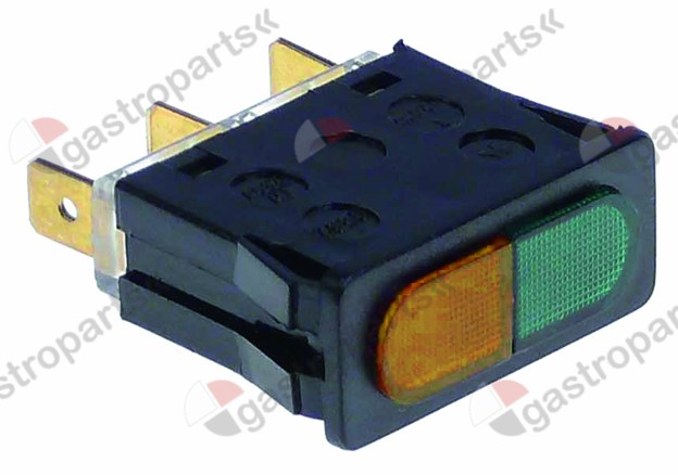 359.311, Replaced by 359056 / indicator light mounting measurements 34x12mm 230Vgreen/red