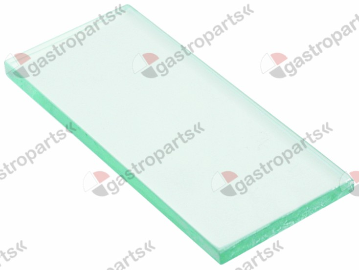 359.323, lamp glass with gasket L 154 mm W 63 mm