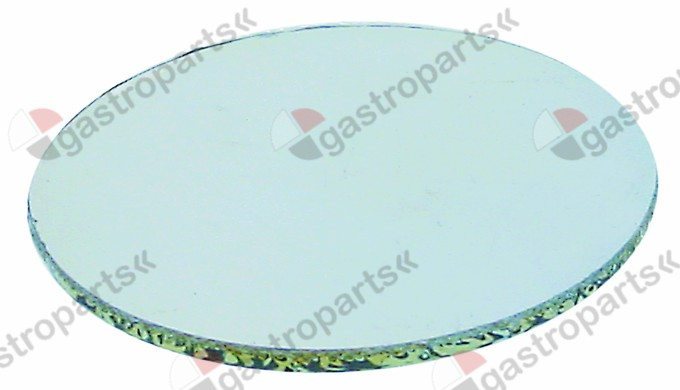 359.340, glass panel round ø 78mm thickness 3mm