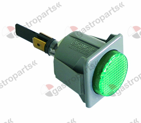 359.353, Replaced by 345131 / 345601 / 359132 / 346240 / indicator light mounting measurements 28.5x28.5mm230V green