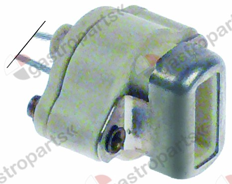359.432, lamp socket 25V socket G4 cable length 350mm connection male faston 4.8mm H 18mm