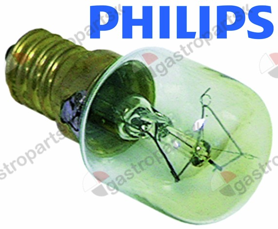 359.612, light bulb t.max. 300°C socket E14 25W 230V ø 25mm L 55mm lens L 30mm for oven lamp type Philips