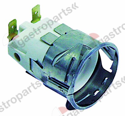 359.701, lamp socket socket E14 220-230V mounting ø 35,5mm connection male faston 6.3mm 15W