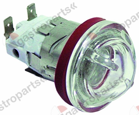 359.720, oven lamp mounting ø 35,5mm 230V 15W socket E14 temp.-resist. 300°C connection male faston 6.3mm