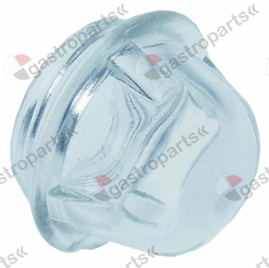 359.725, oven lamp glass thread ø 44mm H 43mm ø 54mm hard glas temp.-resist. 350°C