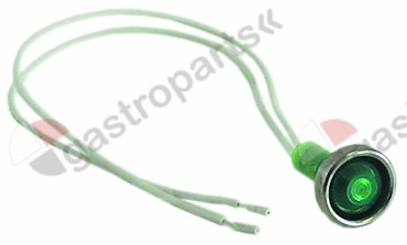 359.791, Replaced by 359242 / 359967 / 359987 / indicator light ø 10mm 230V greencable length 250mm