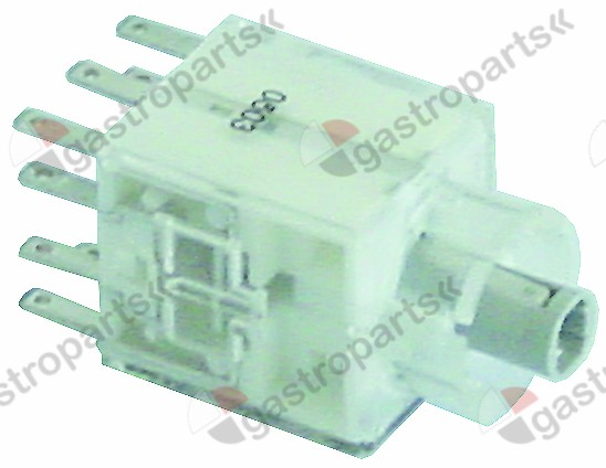 359.793, contact block momentary 2NO/2NC connection male faston 2.8mm illuminable
