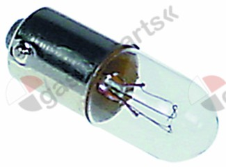359.807, light bulb socket Ba9s 24V 2W ø 10mm L 28mm clear
