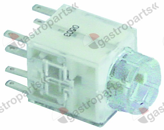 359.812, contact block latching 2NO/2NC connection male faston 2.8mm type AF2