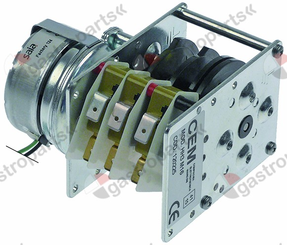 360.011, timer CEM HH3M16 engines 1 chambers 3 operation time 120s 230V