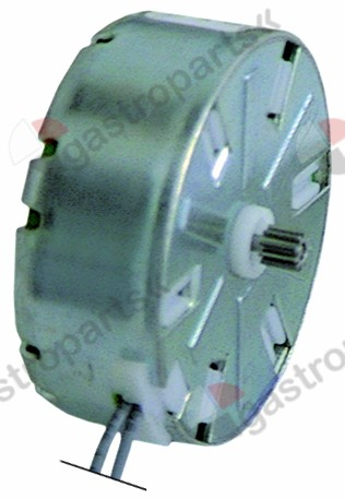 360.083, motor CDC ø pinion/teeth 4.9 / 10 230V turn direction left motor ø 47mm