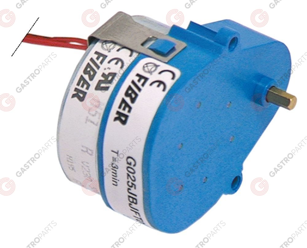 360.105, No longer available / gear motor FIBER type M51BJ0R0000 230V 50/60Hzrun-time 60s 1rpm shaft ø 4mm L 66mm W 51mm H 33mm
