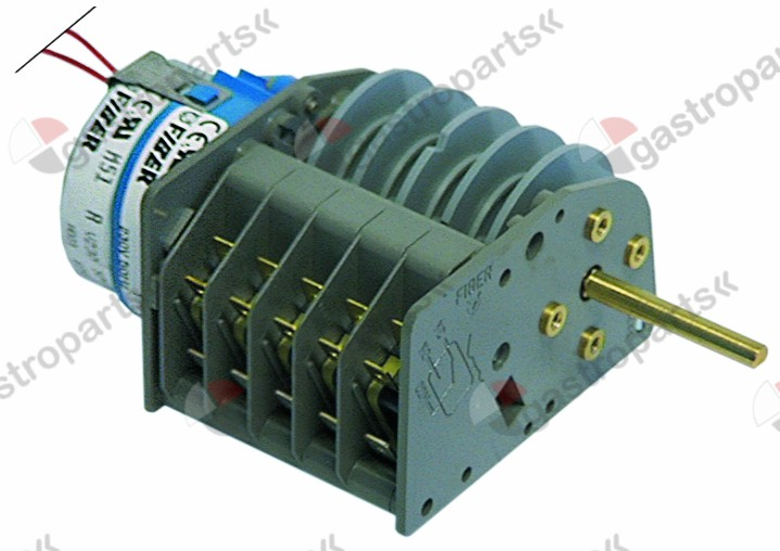 360.120, timer FIBER P25 engines 1 chambers 5 operation time 180s 230V shaft ø 6x4.6mm