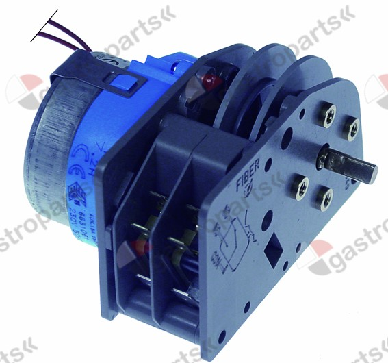 360.388, timer FIBER P25 engines 1 chambers 2 operation time 7.2h 230V shaft ø 6x4.6mm