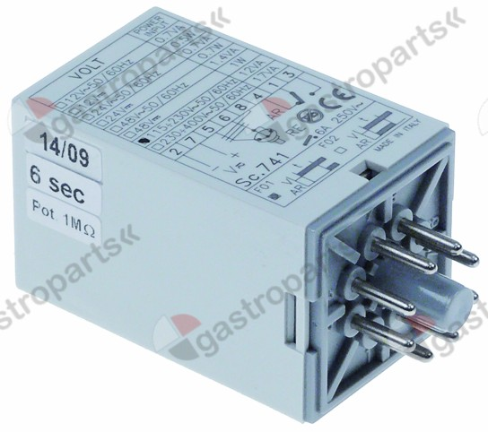 360.455, time relay 1CO 115-230V AC at 250V 6 A