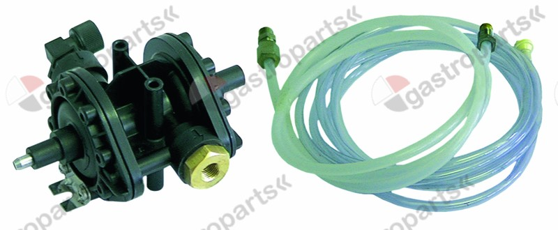 361.008, dosing pump type N6 with special hose set rinse aid pressure connection ø angled, 4x6mm