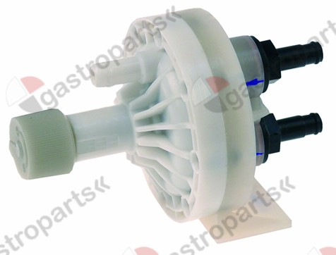 361.012, dosing pump type N83 detergent pressure connection ø 8mm suction connection ø 8mm